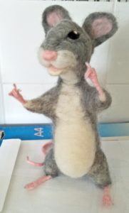 A needle felted mouse/rat named Richard