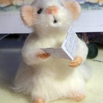 Needle felted singing Rebecca